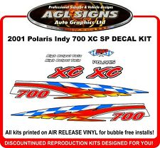 2001 Polaris Indy 700  XC SP  Reproduction Decal Kit  600 also available