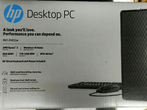 HP Desktop Tower R3 1TD HDD 7200 RPM 8GB RAM DDR4 3.6 GHz PC, M01-F0033W, Win 10