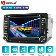 "2 Din JUNSUN 7""Autoradio CD DVD GPS POIs BT Pour VW GOLF5/6 Touran Tiguan EOS"