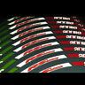 Aprilia Rs125 Reflectante Bandera Italiana Llanta Gráficos X 12 Pieces Rs 125