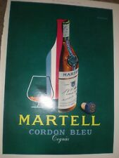 Martell Cordon Bleu Cognac advert 1964 ref AY
