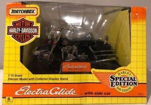 1993 Matchbox Harley Davidson Special Edition Electra Glide w/ Side Car 1:15 NIB