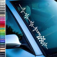 Pulsschlag Aufkleber Cupra  RACE Sticker Frontscheibenaufkleber  F7