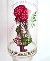 Christmas Holly Hobbie Enjoy Coke  Glass Tumbler 1981 vintage