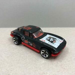 Vintage Mattel Hotwheels Queen Of Hearts '63 Corvette Black Diecast Car 1970s