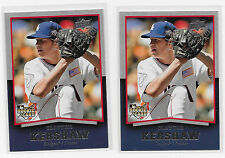 2008 Clayton Kershaw Timeline RC 2 card Lot #98