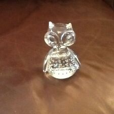 Gorgeous Bubble Glass Owl Ornament/Paperweight