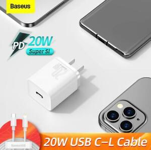 Super Si 20W USB Charger USB C Type-C PD fast Charger For iPhone 12 Pro Max mini