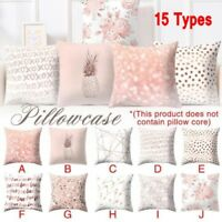 Pillow Case Set Rose Gold Geometric Pineapple Glitter Cushion Cover Home Decor &