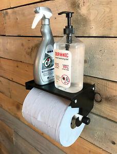 Industrial Blue Roll Paper Towel Holder Dispenser Cleaning Shelf Workshop Garage