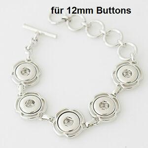 Click Button Mini Petite Armband  passend für 12mm Chunk-Systeme