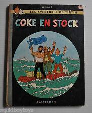 TINTIN Coke en Stock BD French Comic Book HERGE Casterman 1960s