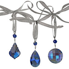 - Blue ~ Boxed set of 3 Kirks Folly Shimmer Crystal Hanging Window Ornament Set
