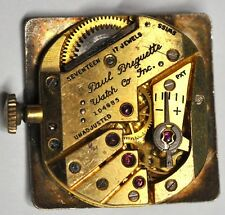 PAUL BREGUETTE WRIST WATCH MOVEMENT 17 JEWELS 104885 FOR PARTS/REPAIRS #951