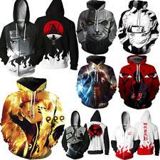 Anime Naruto3D Damen Herren Kapuzen Pullover Sweatshirt Hoodie Jacke Mantel Tops