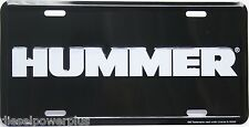 Hummer H1 H2 H3 Humvee Army Military License plate tag id lisence emblem white