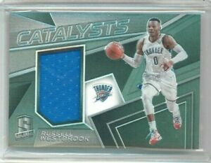17/18 Panini Spectra Russell Westbrook Catalyst Jersey  #'ed 08/199