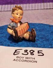 E385 Vintage Goebel Hummel Figurine Boy With Accordion **ESTATE SALE**