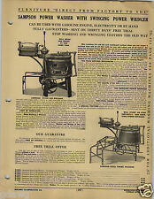 1920 PAPER AD Samson Power Washing Machine Swinging Wringer Wood Wooden