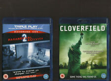 PARANORMAL ACTIVITY 2 EXTENDED CUT TRIPLE & CLOVERFIELD. 2 FILMS ON BLU-RAY!!