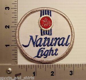 """1970/1980's NATURAL LIGHT BEER VINTAGE 3"""" PATCH"""