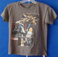 Boy LEGO Gray STAR WARS T-Shirt DARTH VADER Sz S Pre-Owned NO RETURNS