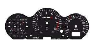 Custom speedometer instrument cluster gauge faceplate overlay Nissan 350z