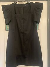 french connection black dress 12 Ruched Sleeve VGC