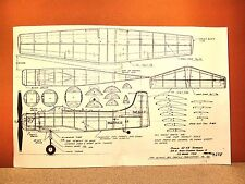 "PEANUT SCALE DOUGLAS AD-4B SKYRAIDER FLYING MODEL AIRPLANE PLAN 13"""