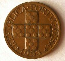 1953 PORTUGAL 20 CENTAVOS - Great Coin Premium Vintage Bin #7