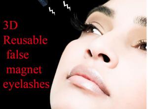 4 or 8 Magnetic Mink 3D False Ultra Natural Eye Curly Eyelashes Handmade Makeup