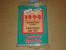 1990 PROCARDS BASEBALL PAWTUCKET RED SOX SEALED TEAM SET MO VAUGHN RC