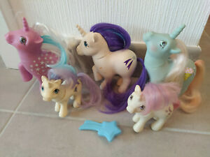 My Little Pony G1 Glory Made in France Baby Glory and Moondancer Coco Berry Milk