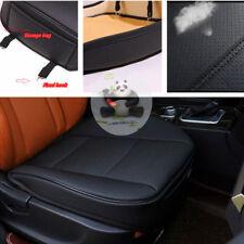 1x Black PU Leather Car Front Seat Cushion Pad Protector Mat Cover Sedan Driver