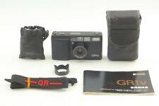 【Exc+5 LCD works】 Ricoh GR1V Black 35mm Film Camera w/ Hood Strap From JAPAN