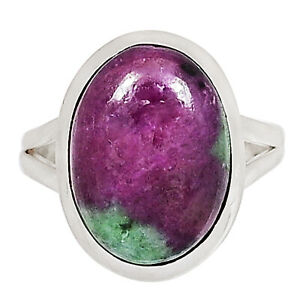African Ruby With Zoisite 925 Sterling Silver Ring XGB Jewelry s.10 BR85665