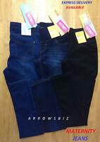 Womens Super Comfort Maternity Skinny Jeans Denim Elasticated Trouser UK Seller