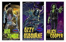 Aurora Box Art Tribute Prints Ozzy, Alice Cooper, Rob Zombie Set of 3
