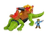 Fisher-Price Imaginext Walking Croc & Pirate Hook,Multicolor