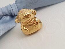 Authentic Pandora 14k 14ct Gold Little Girl Charm Bead 750467 Retired