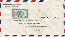 Nicaragua Antique Vintage Envelope, Cover, Stamp