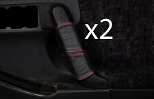 red stitch FITS VAUXHALL OPEL FRONTERA B 98-04 2X FRONT DOOR HANDLE COVERS