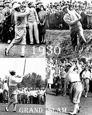 "1930 Bobby Jones ""GRAND SLAM"" unique courses print #1"