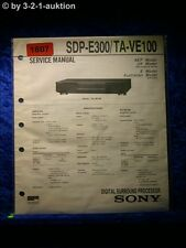 Sony Service Manual SDP E300 / TA VE100 (#1807)