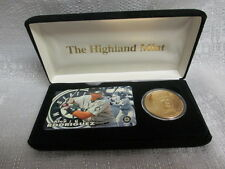Alex Rodriguez Yankees Highland Mint 24K Gold Plated Coin Tele Set Phone Card