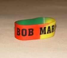 RASTA BOB MARLEY Silicone Bracelet WRISTBAND Reggae One Love Color Jamaica