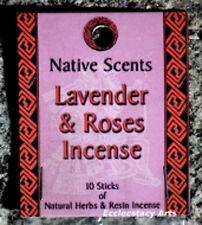 Lavender Rose Incense Sticks Native Scents Natural Fragrances 20 Sticks