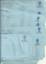 ISLE OF MAN x 7 UNUSED DECIMAL AIRLETTERS 6p - 14½p ALL DIFFERENT IN SOME WAY