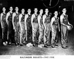 1947-48 BALTIMORE BULLETS NBA CHAMPS 8X10 TEAM PHOTO