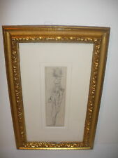 19thc LISTED FRENCH CONSTANTIN GUYS DRAWING SWORDSMAN